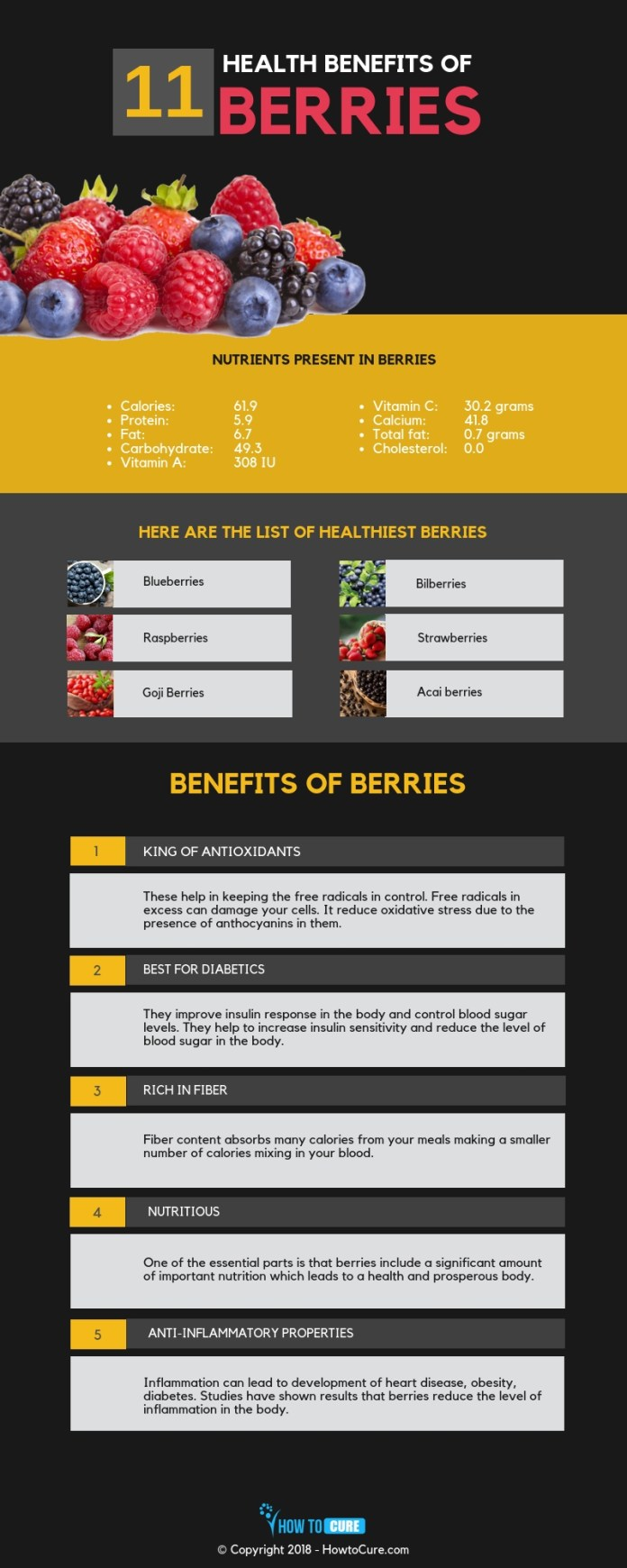 berries infographic